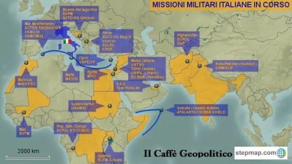 Le operazioni internazionali italiane in corso.