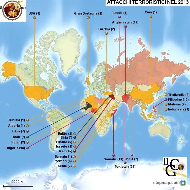 Nella nostra mappa, gli attentati terroristici che hanno avuto luogo nel 2013