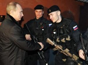 Il presidente Putin incontra le forze antiterrorismo del Gruppo Alfa in Cecenia