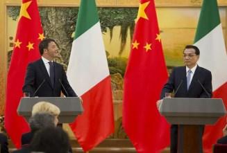 Incontro bilaterale Italia-Cina, il presidente Matteo Renzi accoglie Li Keqiang