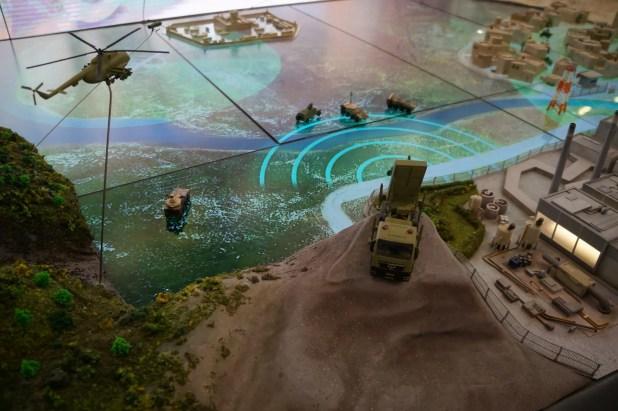 Fig.2 - Uno scorcio di un moderno campo di battaglia rappresentato su plastico interattivo