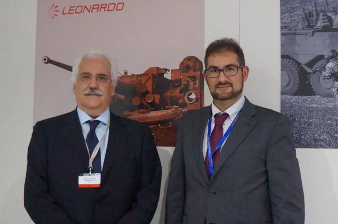 Fig.3 - L'Ing. Roberto Cortesi posa con l'autore al temine dell'intervista.