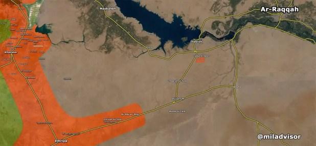Posizioni arretrate delle truppe di Assad per non essere circondate, - fonte: miladvisor