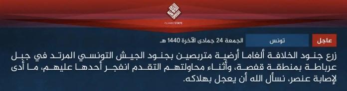 Lo Stato Islamico in Tunisia 1
