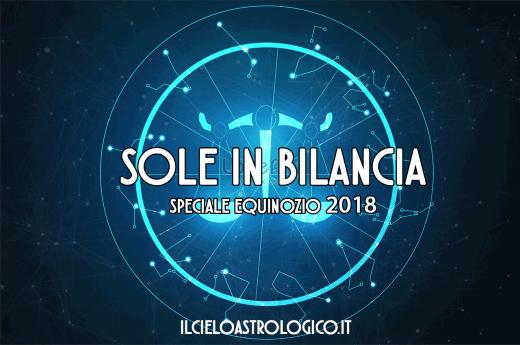 sole in bilancia equinozio 2018