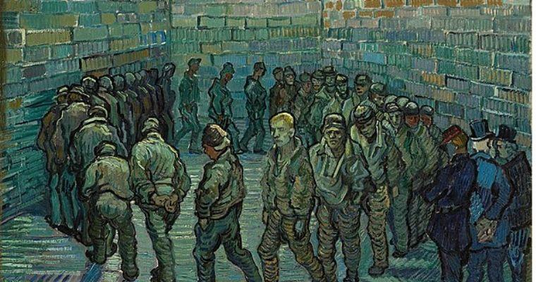 """La """"Ronda dei carcerati"""" di Vincent Van Gogh è l'immagine scelta come copertina della puntata di Rigonia dedicata al carcere e trasmessa su Radio Antidoto"""