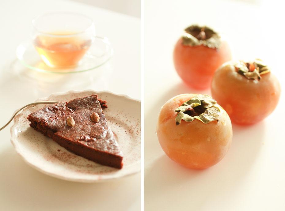 torta cioccolato e cachi