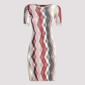 Missoni - Multicolor Argyle Pattern Jumper Dress C - (c) Clothing It@38