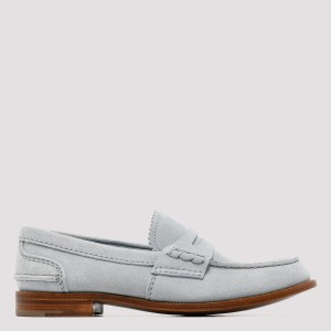 Church`s - Pembrey Ice Blue Suede Loafers N - (n) Shoes It@38
