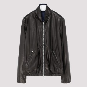 Giorgio Armani - Black Zipped Leather Jacket C - (c) Clothing It@54