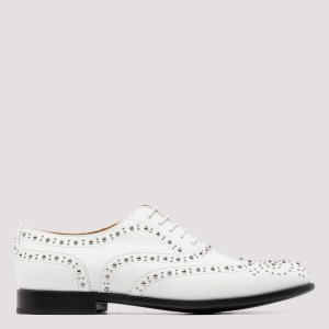 Church`s - White Oxford Brogue Stud Shoes N - (n) Shoes It@40