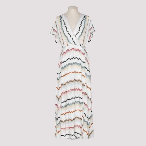 Missoni - Zig-zag White Knitted Dress C - (c) Clothing It@40