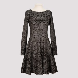 Alaïa - Black And Gold Knitted Dress 36