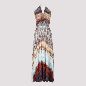Missoni - Multicolor Halterneck Long Dress 38