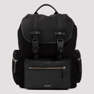 Giorgio Armani - Black Tech Fabric Backpack Unica