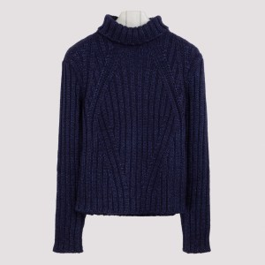 Tom Ford - Blue Cashmere-blend Sweater S