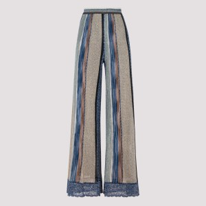 Missoni - Golden And Blue Wide Leg Pants 38