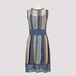 Missoni - Blue And Gold Knit Dress 38