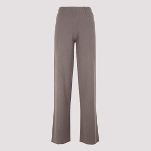 Fabiana Filippi - Taupe Knitted Cashmere Pants 42