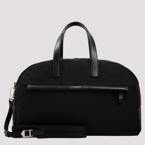 Giorgio Armani - Black Duffle Zipped Bag Unica