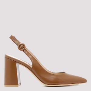 Gianvito Rossi - Leather Slingback Pumps Vitello 36