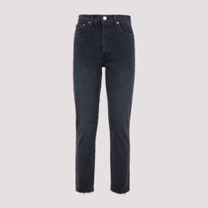 Re/done - Re/done High Rise Ankle Crop Jeans 24