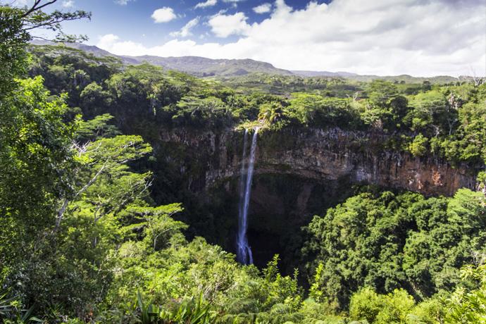La cascade de Chamarel