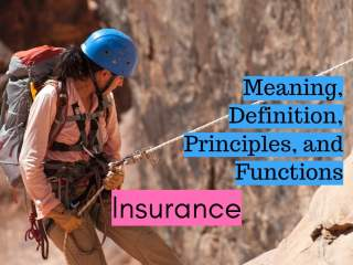 Meaning Definition Principles and Functions of Insurance