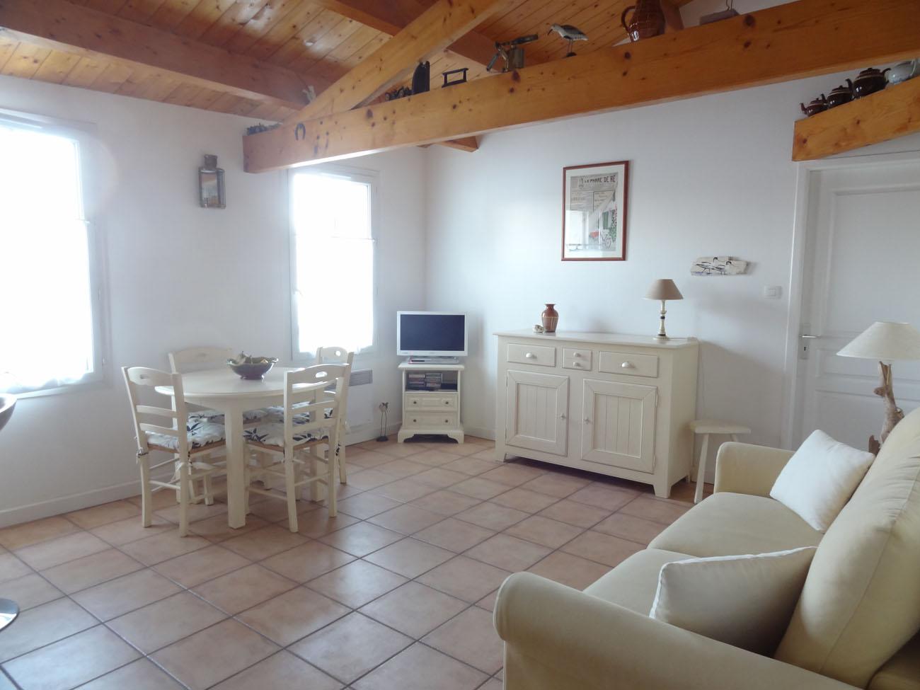 Location appartement Ile de Ré - Silène - Salon