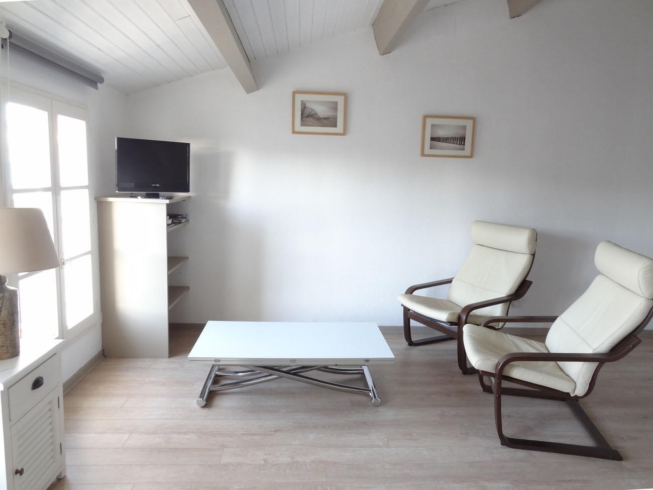 Location Appartement Ile de Ré - Vue-Mer - Salon