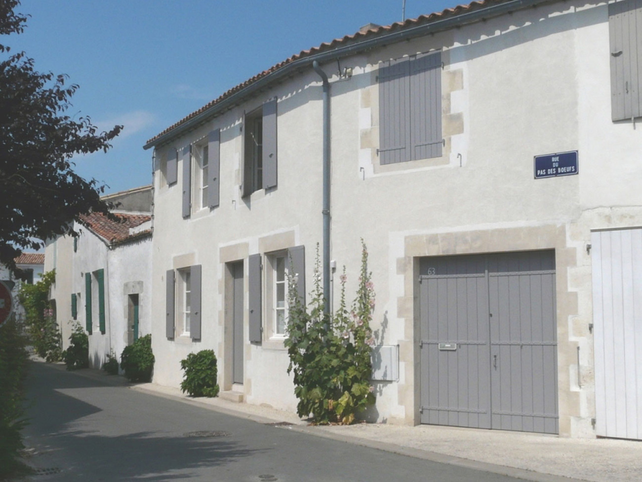 Location Maison Ile de Ré - Fleur-de-sel - Façade