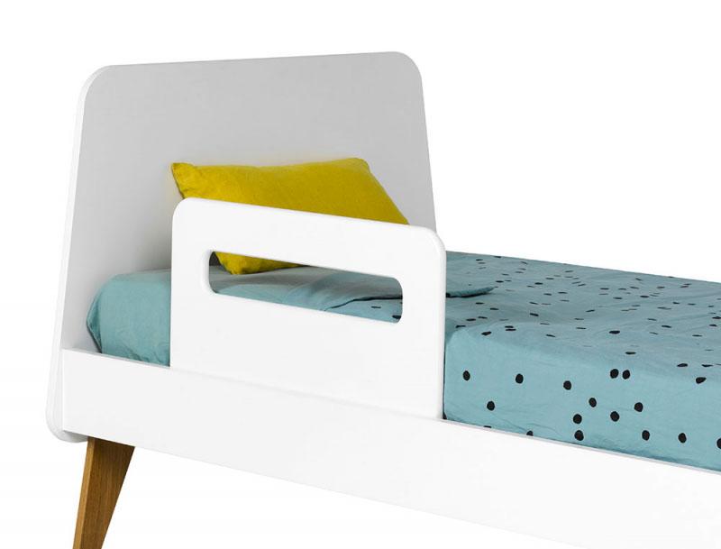 barriere de lit petit modele hugo blanc