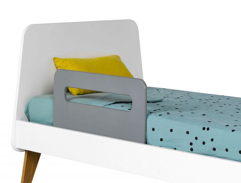 barriere de lit petit modele hugo gris