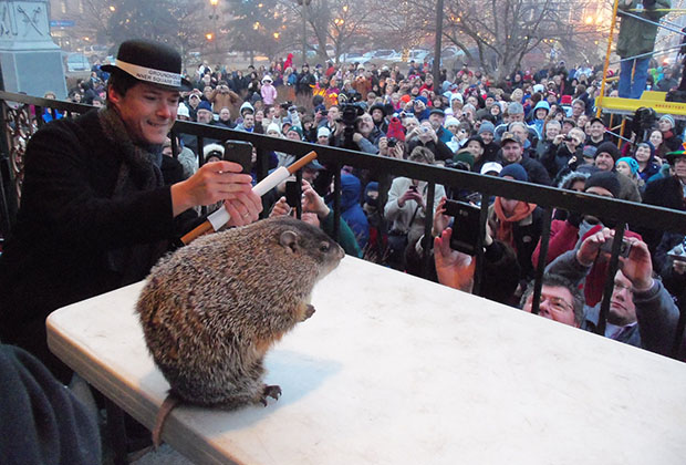 Celebrate The Movie And Holiday Groundhog Day In Woodstock