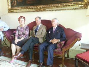 Annie Feolde con Piero Antinori e Giorgio Pinchiorri