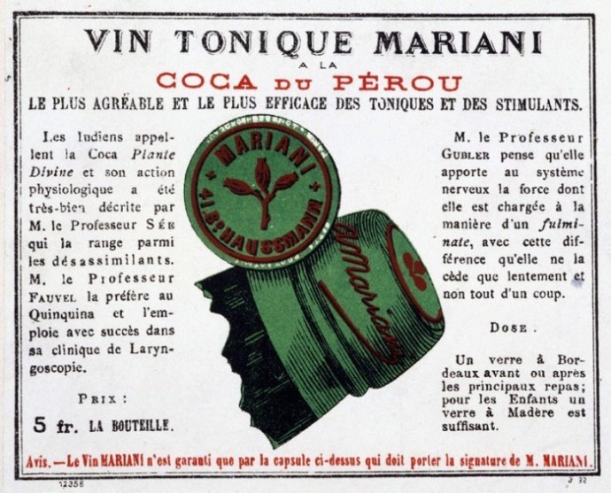 Vin Mariani lable French