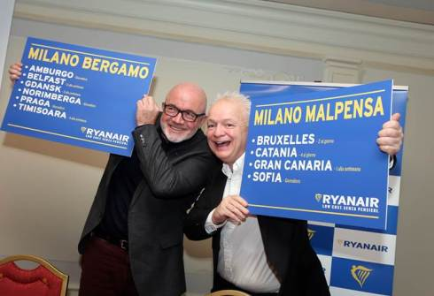 Ryanair conf stampa milano