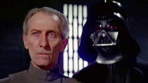 Il generale Wilhuff Tarkin e Darth Fener/Anakin Skywalker, personaggi di Star Wars