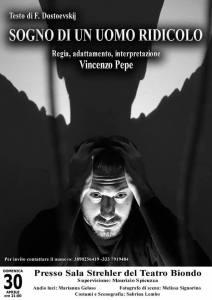 """""""Sogno di un uomo ridicolo"""" di Dostoevskij in scena alla Sala Strehler del Teatro Biondo"""
