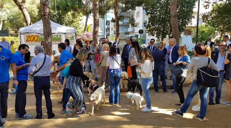 Inaugurazione area sgambatura cani Villa Sperlinga