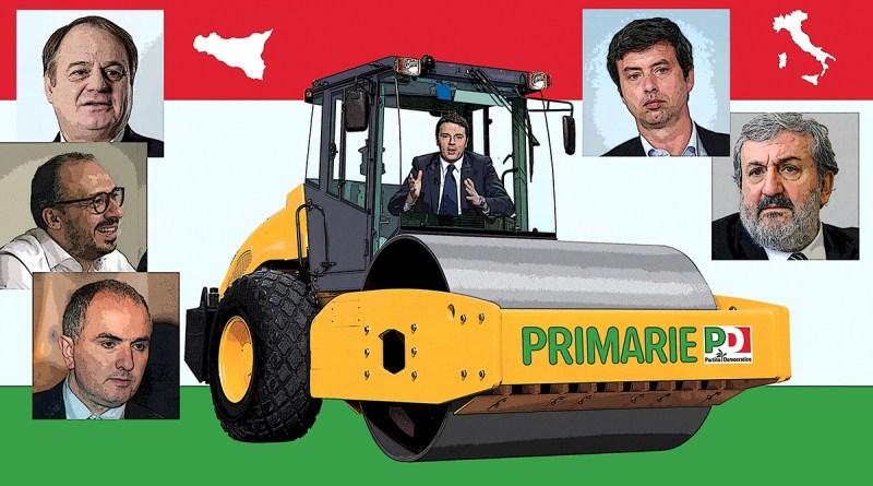 Matteo Renzi rullo compressore alle primarie per la segreteria PD 2017