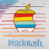 L'interpretazione di Andy Warhole del logo arcobaleno dell'Apple Macintosh