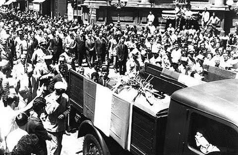 Funerali Strage di Ciaculli, 1963