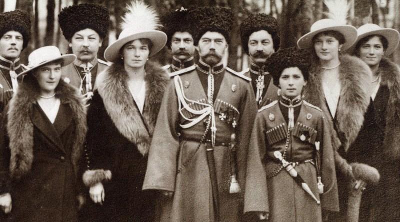 La famiglia dello zar Nicola II, uccisa nel 1918 nella strage dei Romanov a Ekaterinburg