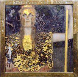Pallade Atena di Gustav Klimt realizzato nel 1898 (Wien Museum)