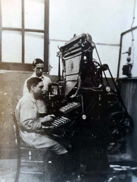 Linotype tipografia Giornale di Sicilia