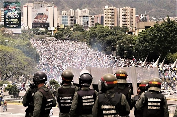 Manifestazione contro Maduro in Venezuela