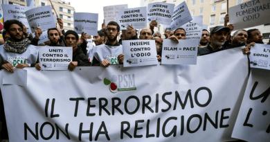 Protesta contro terrorismo