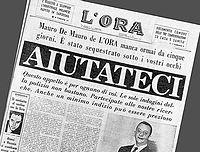 """Prima pagina del giornale L'Ora con l'appello ai lettori """"Aiutateci"""""""