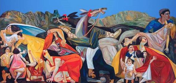 Portella della ginestra, quadro di Pippo Consoli